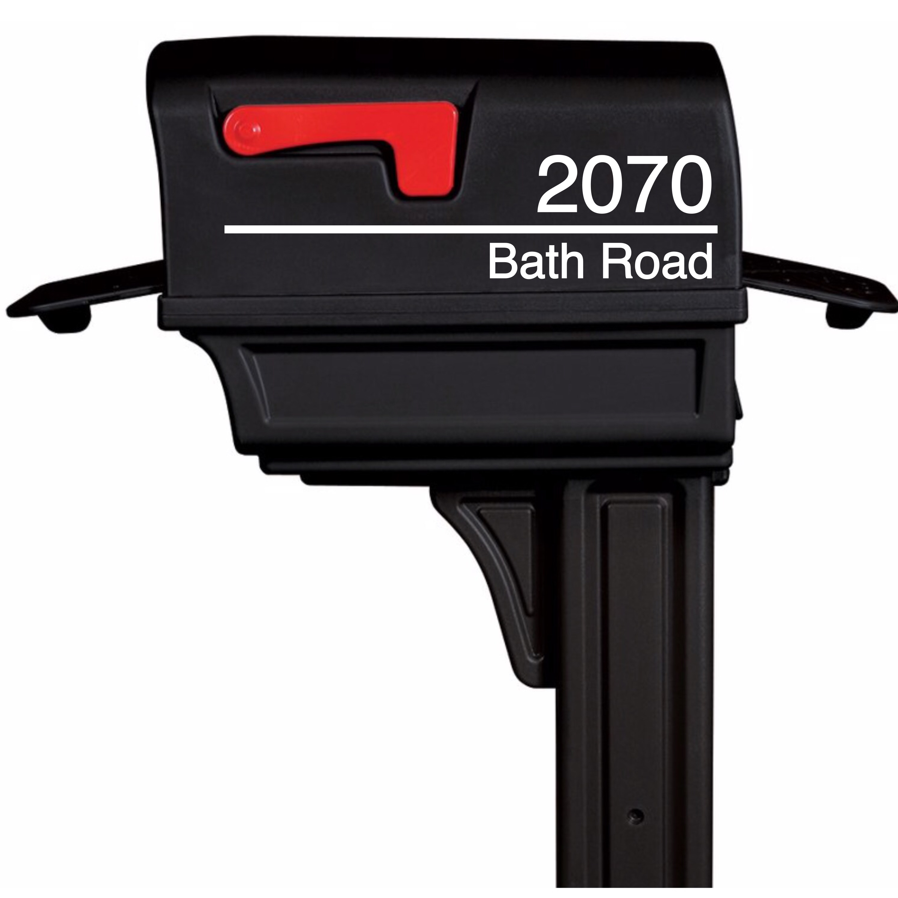 House Address Mailbox Decal (Style 1)