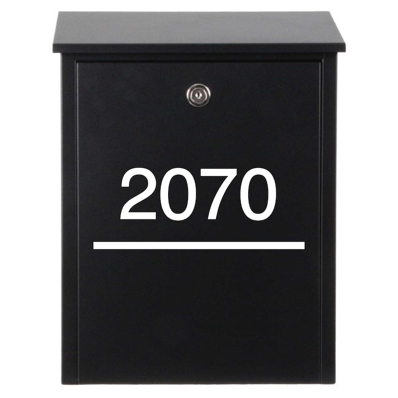 Modern Mailbox House Number Decal (Style 1)