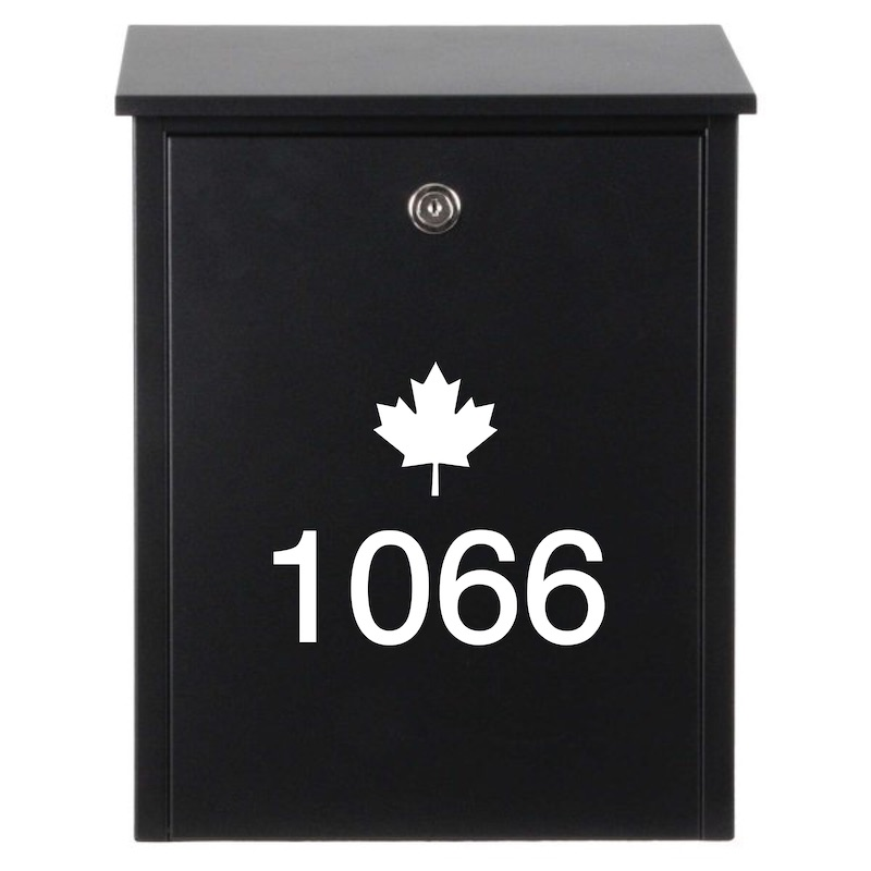 Modern Mailbox House Number Decal (Style 2)